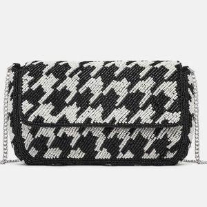 NWOT Zara Two-tone beaded crossbody bag